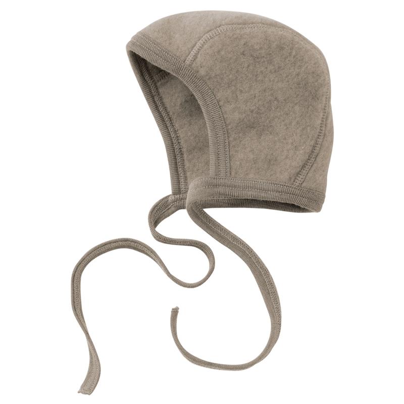Bonnet wool-fleece WALNUT