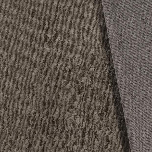 Bamboe Fleece MUD                 (per meter)