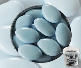 Suikerbonen licht blauw  emmer 450 gr