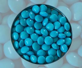 Doopsuiker lentilles turquoise