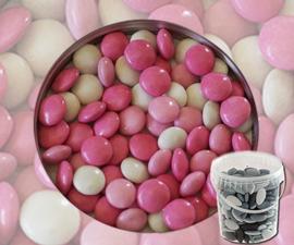 Suikerbonen confetti licht roos mix 400 gr