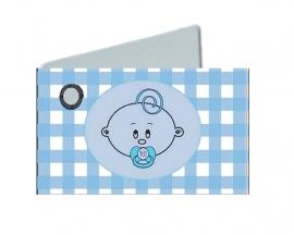 Naamkaartjes baby blauw