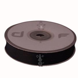 Grosgrain lint Zwart 15mm-20m