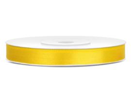 Satijn lint geel 6mm