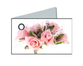 Naamkaartje trouw bouquet