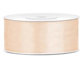 Satijn lint beige 25 mm