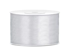 Satijn lint grijs 38 mm