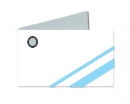 Naamkaartjes Wit+licht blauw