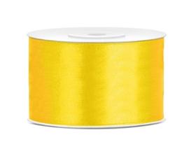 Satijn lint geel 38 mm