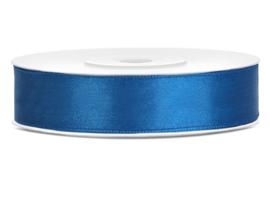 Satijn lint cobalt blauw 12 mm