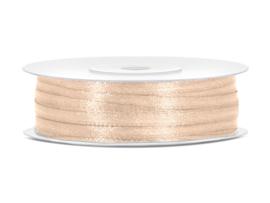 Satijn lint Ivoor 3 mm op 50 m