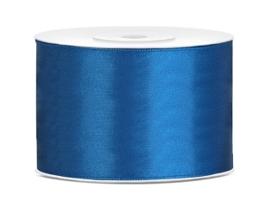 Satijn lint cobalt blauw 38 mm