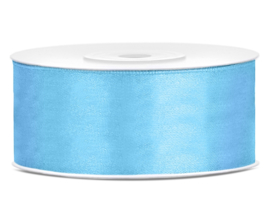 Satijn lint licht blauw 25 mm