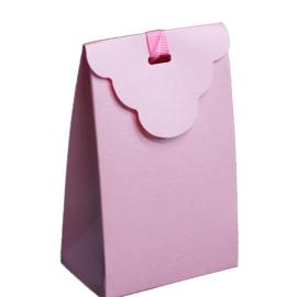 Doosje zakje licht roze 8 stuks