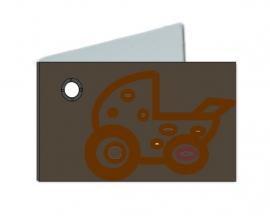 Naamkaartje wieg bruin