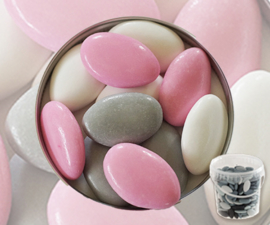 Suikerbonen roze mix emmer 450 gr
