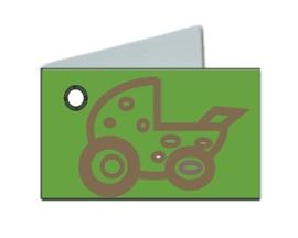 Naamkaartje wieg groen