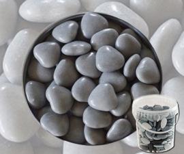 Suikerbonen hartjes grijs emmer 450 gr