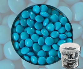 Suikerbonen confetti turquoise 400gr