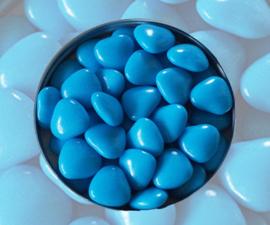 Doopsuiker hartjes turquoise