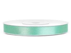 Satijn lint mint groen 6 mm