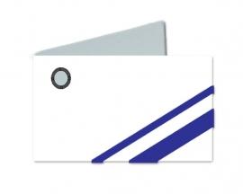 Naamkaartjes Wit+ marine blauw