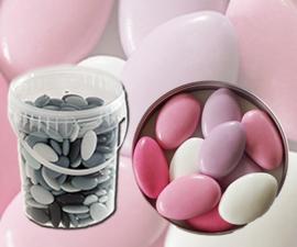 Bruidsuiker roze mix emmer 900gr