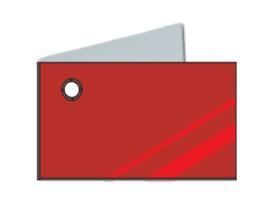 Naamkaartjes Effen rood