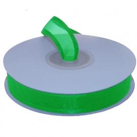 Organza lint met boord Groen 15mm-25m