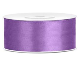 Satijn lint lilla 25 mm