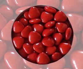 Doopsuiker hartjes rood
