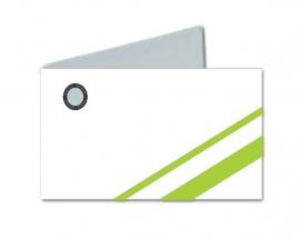 Naamkaartjes Wit+groen