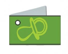 Naamkaartjes Effen groen+groene fopspeen 8 pakjes 32st