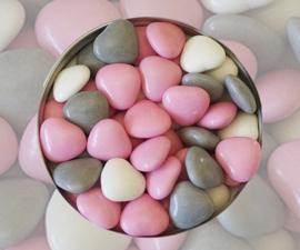 Doopsuiker hartjes roze mix