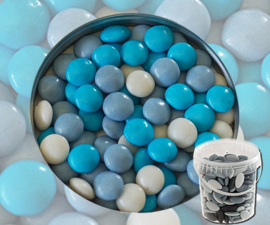 suikerbonen confetti blauw mix emmer 400 gr