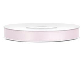 Satijn lint licht roos 6 mm