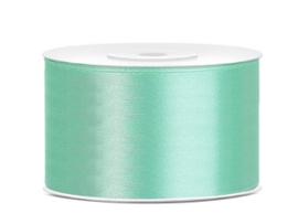 Satijn lint munt groen 38 mm