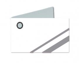 Naamkaartjes Wit+grijs