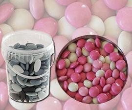 Bruidsuiker confetti roos mix emmer 850gr