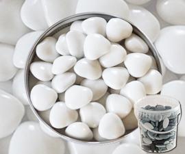 Suikerbonen hartje wit emmer 450 gr