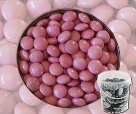 Suikerbonen confetti  licht roos 400 gr