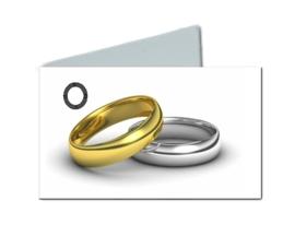 Naamkaartje trouwringen