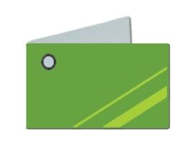 Naamkaartjes Effen groen