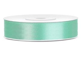 Satijn lint munt groen 12 mm