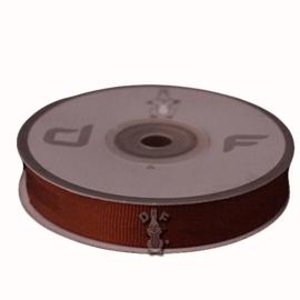 Grosgrain lint Bruin 15mm-20m