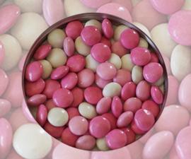 Doopsuiker lentilles roos mix kleuren