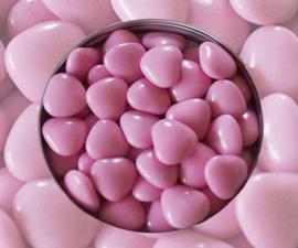 Doopsuiker hartjes roze