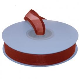 Organza lint met boord Rood 15mm-25m