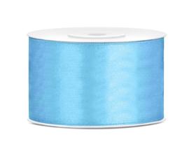 Satijn lint licht blauw 38 mm