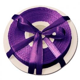 Satijn lint paars 6 mm